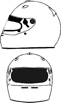 ARAI - Design your own helmet - right click to save large image